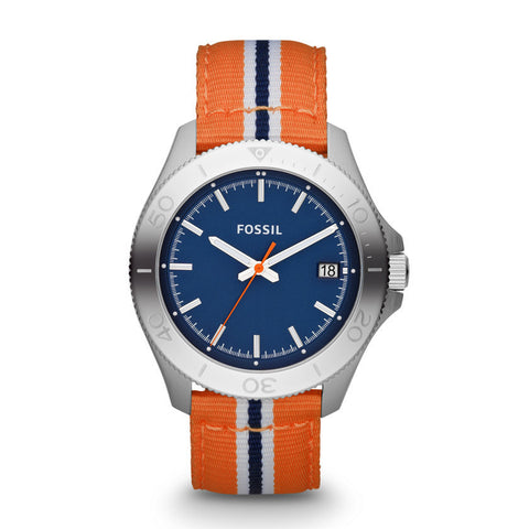 Fossil Retro Traveler Three Hand Nylon Watch - Orange Am4478