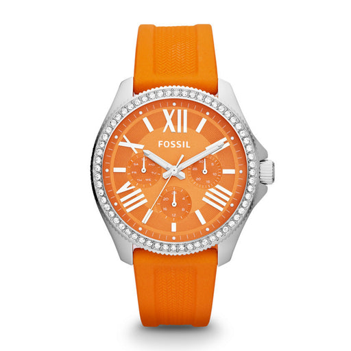 Fossil Cecile Multifunction Silicone Watch - Orange Am4491