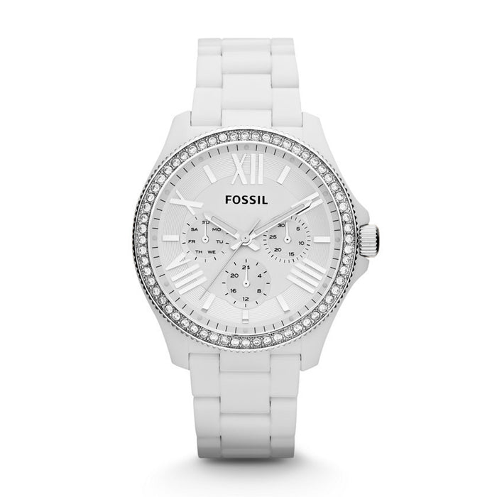 Fossil Cecile Multifunction Resin Watch - White Am4494