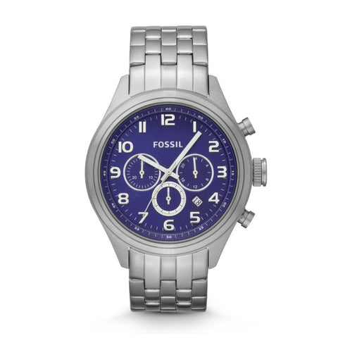 Fossil Asher Chronograph Stainless Steel Watch Bq1027