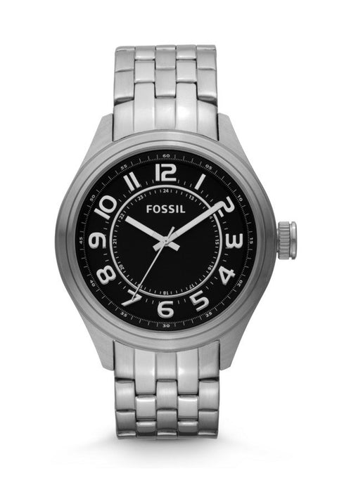 Fossil Asher Three-Hand Stainless Steel Watch Bq1037