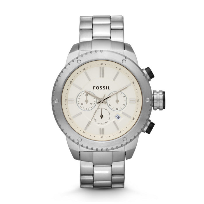 Fossil Logan Chronograph Stainless Steel Watch Bq1048