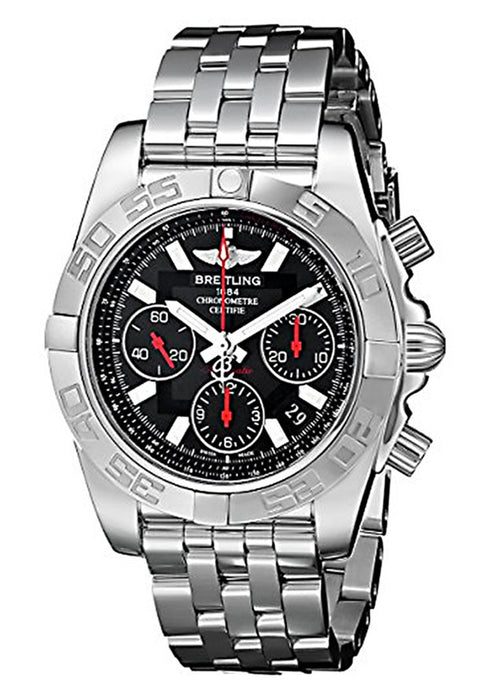 Breitling Men's AB014112/BB47-378A Chronomat Analog Display Swiss Automatic Silver Watch