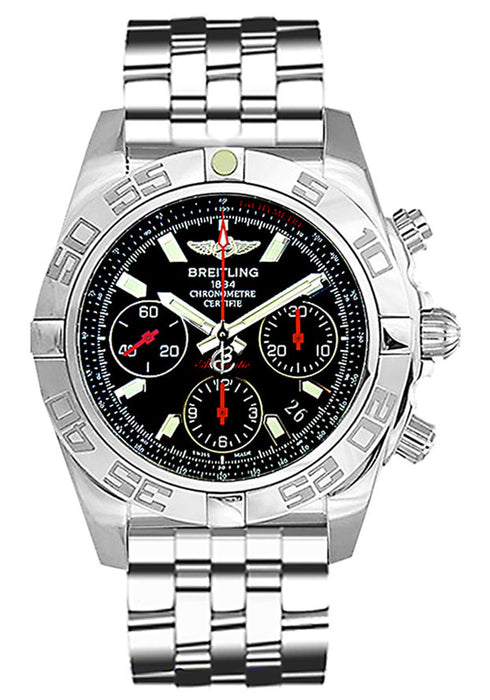 Breitling Men's AB014112/BB47 Chronomat Analog Display Swiss Automatic Silver Watch