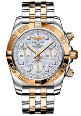 Breitling Chronomat 41 Automatic Steel & 18kt Rose Gold Mens Luxury Watch CB014012/A723