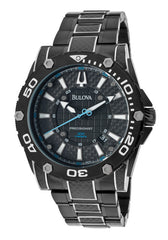 Bulova Men's 98B153 Precisionist Champlain Steel  Black ion Watch