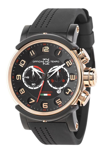 Officina Del Tempo - Block - 46mm Chronograph - OS21 - Rose Gold Case