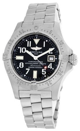 Breitling Men's A1733010-B906 Analog Display Swiss Automatic Silver Watch