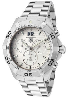 Men's Aquaracer Chronograph Light Silver Textured Dial SS