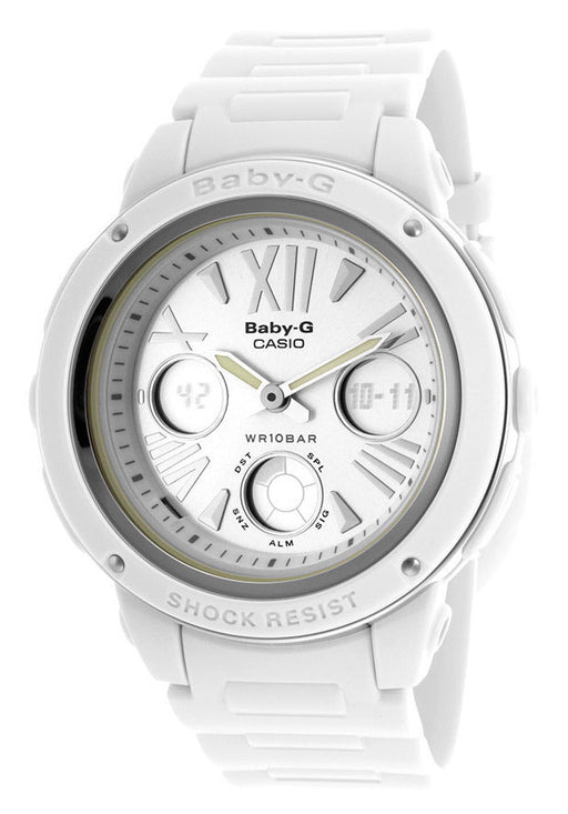 Casio BGA152-7B1CR Women's Baby-G Digital Multi-Function/Analog White Resin