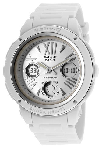 Casio BGA152-7B1 Women's Baby-G Analog/Digital Multi-Function White Resin