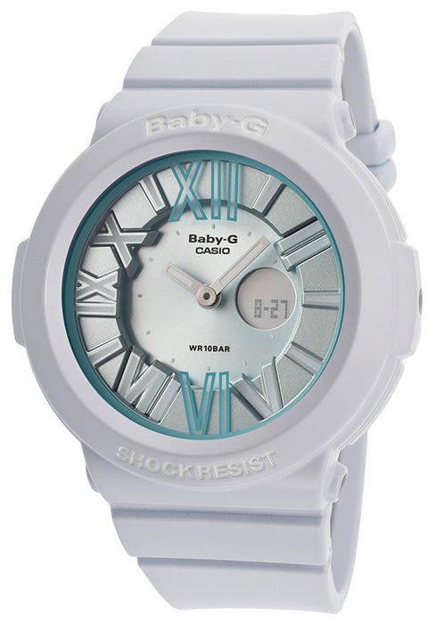 Casio BGA161-2BCR Women's Baby-G Digital Multi-Function White Resin