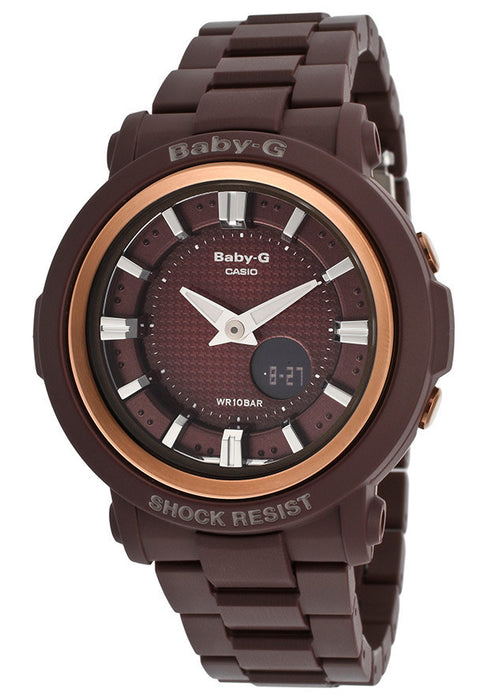 Casio BGA301-4ACR Women's Baby-G Digital Multi-Function Brown Plastic