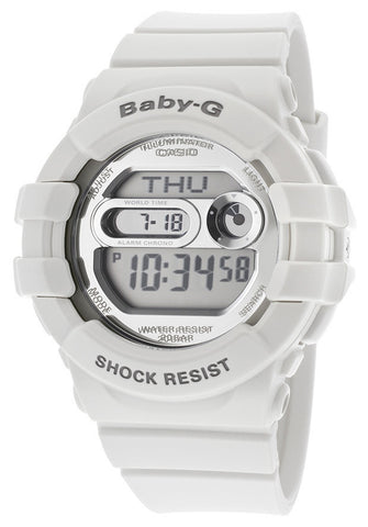 Casio BGD141-7CR Women's Baby-G Digital Multi-Function White Resin