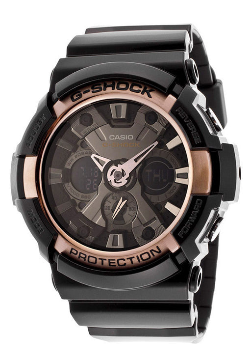 Casio GA200RG-1ADR Men's G-Shock Multi-Function Shiny Black Resin