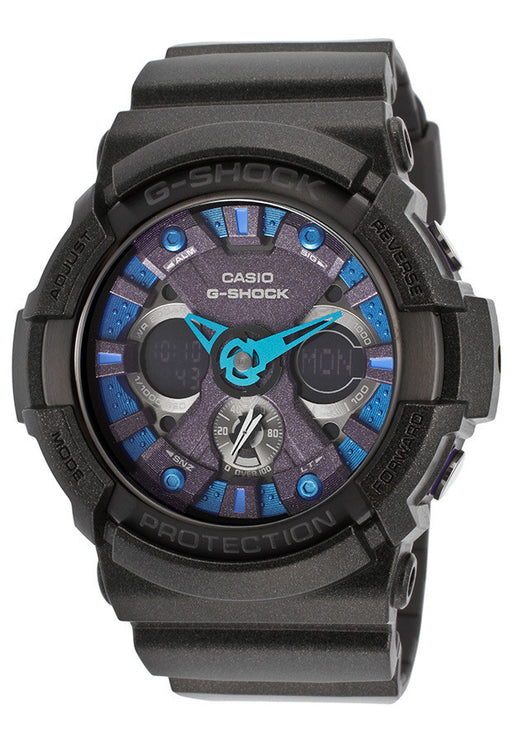 Casio GA200SH-2ACR Men's G-Shock Analog/Digital Multi-Function Black Resin