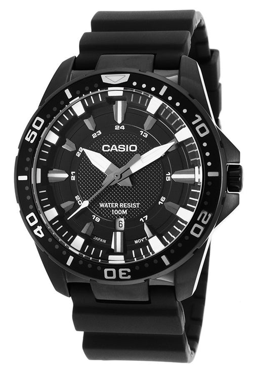 Casio MTD-1072-1AVDF Men's Enticer Black Resin Black Bezel