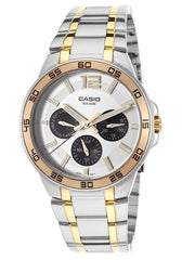 Casio MTP-1300SG-7AVDF Men's Enticer Two-Tone Steel Silver-Tone Dial
