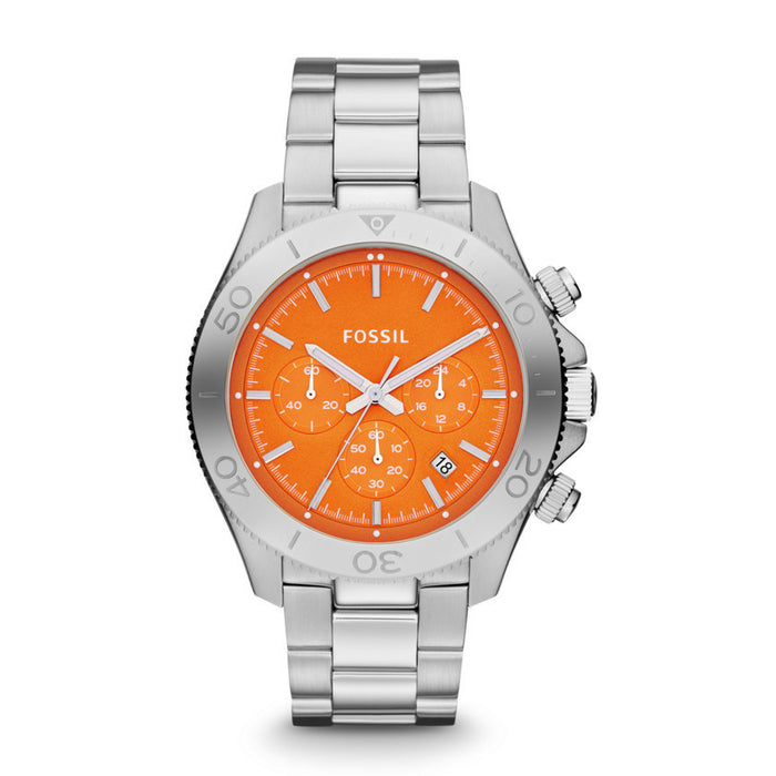 Fossil Retro Traveler Chronograph Stainless Steel Watch Ch2868