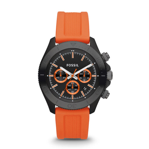 Fossil Retro Traveler Chronograph Silicone Watch - Orange Ch2873