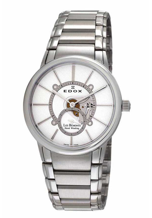 Edox Men's 72011 3 AIN Les Bemonts Hand Winding Stainless Steel Watch