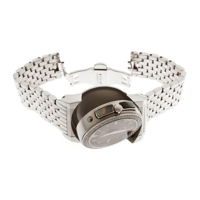 Rotary Women's Evolution TZ2 Reversible Round Watch Case Silver Bracelet