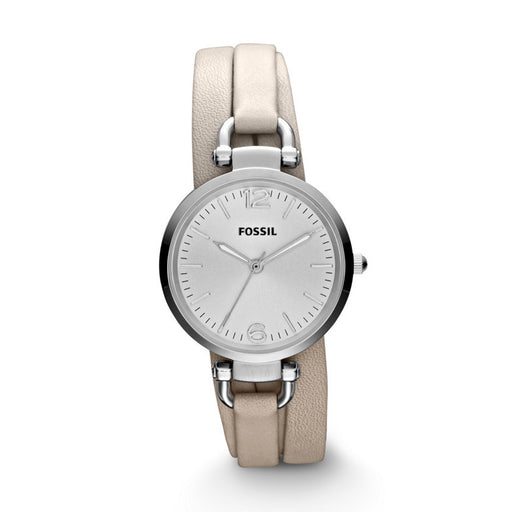 Fossil Georgia Three Hand Leather Watch - Bone Es3159