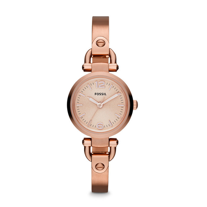 Fossil Georgia Mini Three Hand Stainless Steel Watch - Rose Es3268