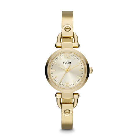 Fossil Georgia Mini Three Hand Stainless Steel Watch - Gold-Tone Es3270