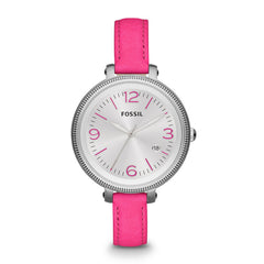Fossil Heather Three Hand Leather Watch - Pink Es3277
