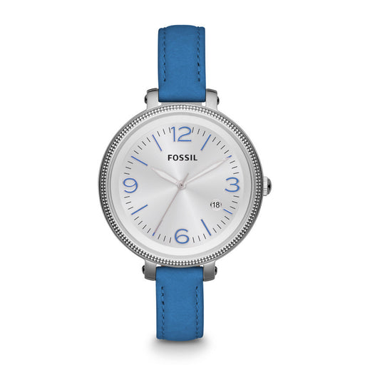 Fossil Heather Three Hand Leather Watch - Blue Es3279