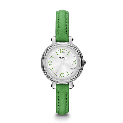 Fossil Heather Three Hand Leather Watch - Green Es3303