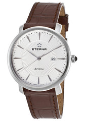 Eterna Women's Artena White Dial Brown Genuine Leather