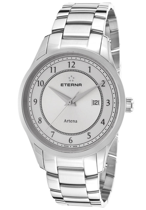 Eterna 2520-41-64-0274 Men's Artena Stainless Steel White Dial