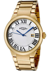Men's Savannah White Textured Dial Almond Ion Plated Stainless Steel