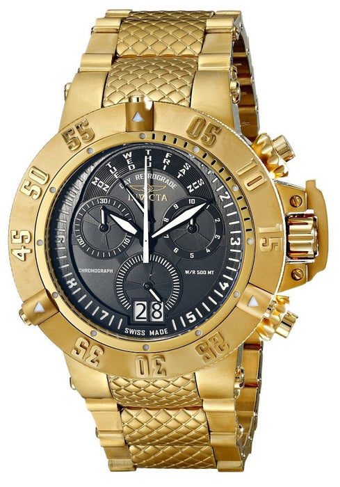 Invicta Men's 17616 Subaqua Analog Display Swiss Quartz Gold Watch