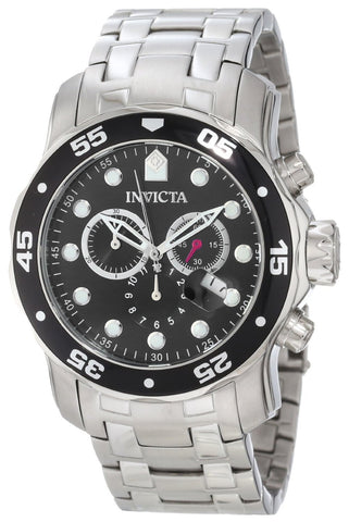 Invicta 0069 Men's Pro Diver Chronograph Stainless Steel