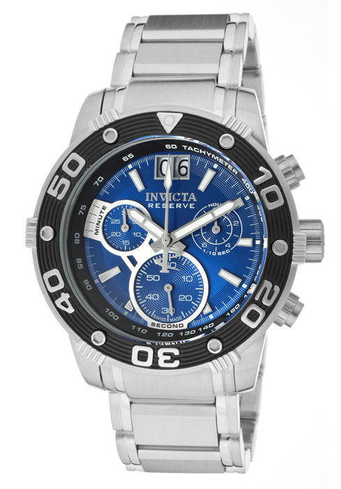 dc1ef91dd Invicta Men's 10588 Ocean Reef Reserve Chronograph Blue Dial Stainless —  RealWatches.com