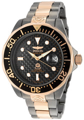 Invicta 10643 Men's Pro Diver Grand Diver Auto Rose 18K Gold Plated & Gunmetal IP SS