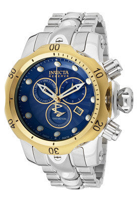 Invicta 10798 Men's Venom/Reserve Chronograph Blue Textured Dial Stainless Stee