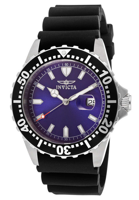 Invicta Men's 10919 Pro Diver Blue Dial Black Polyurethane Watch