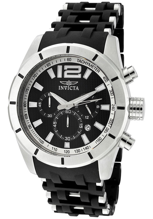 Invicta Men's 11247 Sea Spider Chronograph Black Textured Dial