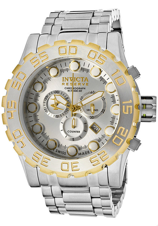 Invicta 11862 Men's Reserve Chronograph Silver Dial Stainless Steel