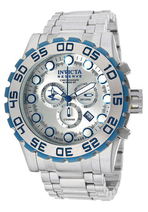 Invicta Men's 11864 Reserve Chronograph Silver Dial Stainless Steel Watch