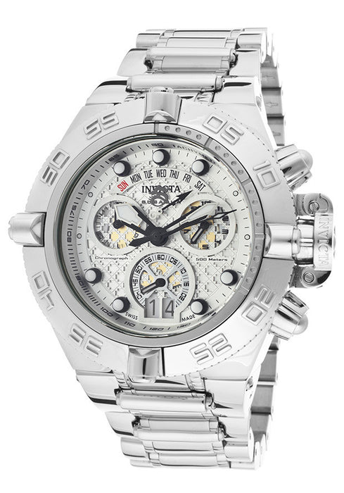 Invicta 11874 Men's Subaqua Noma IV Chronograph White Textured Dial Stainless Steel