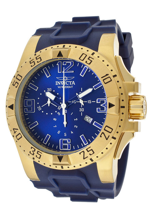 Invicta Men's 11903 Excursion Sport Chronograph Blue Dial Blue Polyurethane Watch