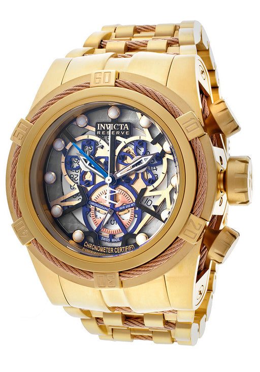 Invicta 12902 Men's Bolt Chronograph Multicolored Skeletonized Dial Stainless Steel