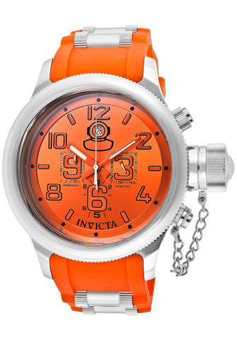Invicta 1346 Watches,Men's Russian Diver Chronograph Orange Dial Orange Polyurethane