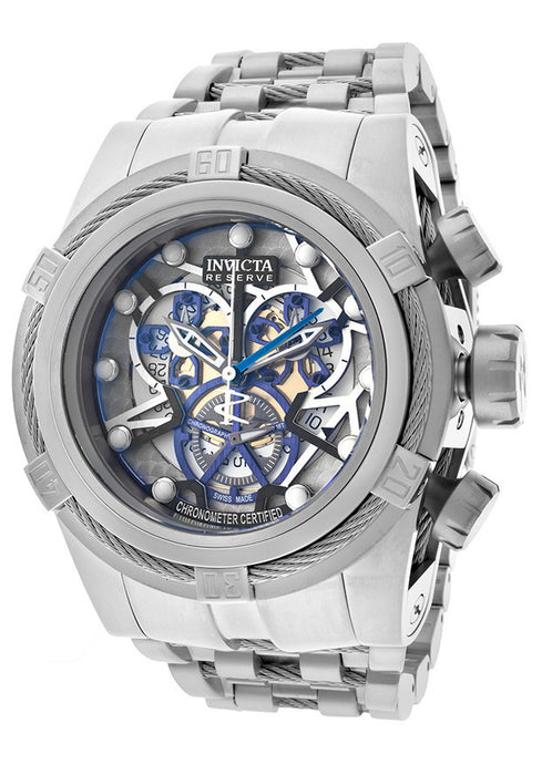 Invicta 13746 Men's Bolt Chronograph Multicolored Skeletonized Dial Stainless Steel