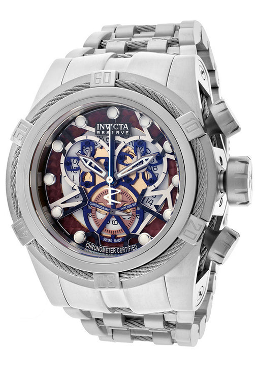Invicta 13748 Men's Bolt Chronograph Multicolored Skeletonized Dial Stainless Stee
